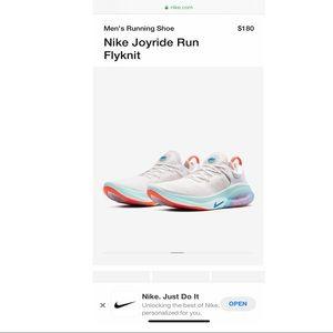 NEW! worn twice, Nike Joyride Run Flyknit